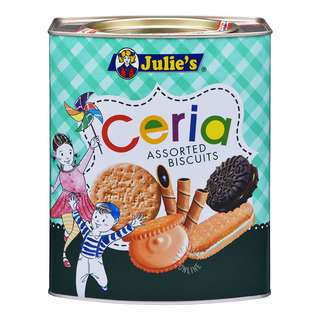 <p>Tin contains 6 types of biscuits as illustrated on the tin, individual packing, crispy and tasty.</p>