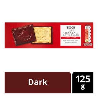 Tesco Chocolate Butter Biscuits - Dark