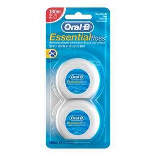 Oral-B Waxed Dental Floss - Essential