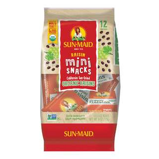 Delicious organic raisins<br>With Sun-Maid, you get it all - quality, taste, convenience, and 100% real fruit goodness!