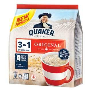 Quaker 3 in 1 Instant Oat Cereal Drink - Original