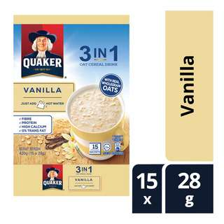 Quaker 3 in 1 Instant Oat Cereal Drink - Vanilla