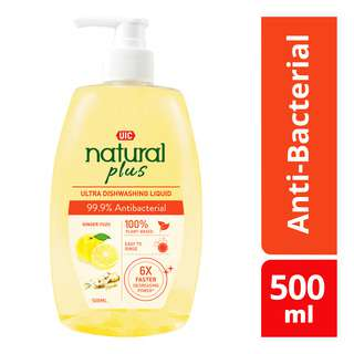 UIC Natural Plus Ultra Dishwashing Liquid - Anti-Bacterial