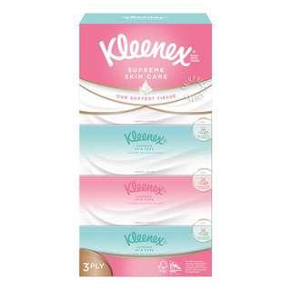 Kleenex Supreme Skin Care Facial Tissue - Silky Smooth