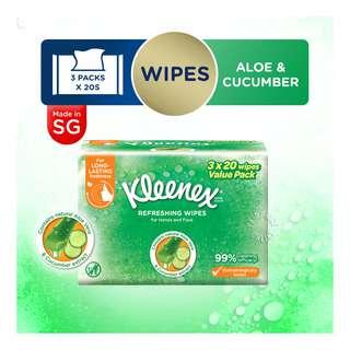 Kleenex Hand & Face Moist Wipes - Refreshing