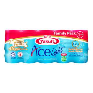 Yakult Cultured Milk Bottle Drink - Ace Light(FamilyPack)