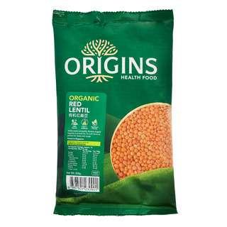 Origins Healthfood Organic Lentil - Red