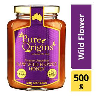 Pure Origins Organic Raw Honey - Wild Flower