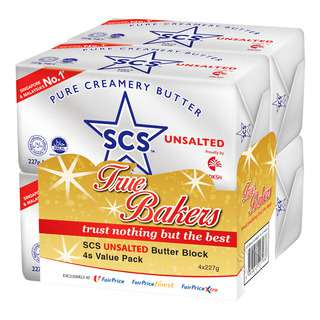 SCS Pure Creamery Butter Block - Unsalted