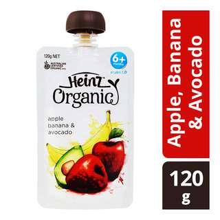 Heinz Organic Baby Puree Pouch - Apple, Banana & Avocado