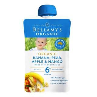 Bellamy's Organic Ready to Eat Baby Food - Banana Pear & Mango