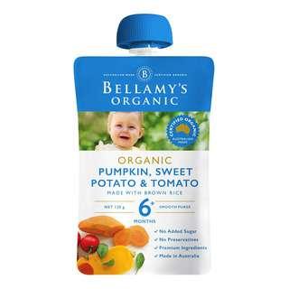 Bellamy's Organic Baby Food - Pumpkin, Sweet Potato & Tomato