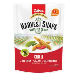 Calbee Harvest Snaps Baked Pea Crips - Chilli
