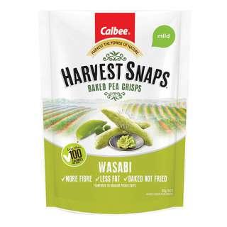 Calbee Harvest Snaps Baked Pea Crips - Wasabi