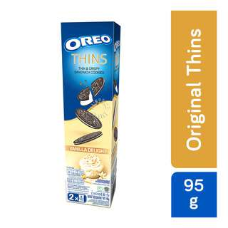 Oreo Thins & Crispy Sandwich Cookies -VanillaDelight