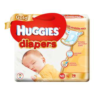 New Huggies Gold Diapers come with soft stretchy side tapes to perfectly hug your baby, keeping your baby snug and comfortable! Also with a special poo away liner to quickly pull pee and newborn runny poo away from baby's delicate skin.