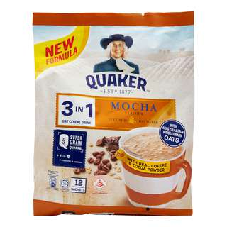 Quaker 3 in 1 Oat Cereal Drink - Mocha