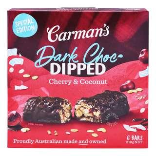 Carman's Muesli Bars - Dark Chocolate with Cherry & Coconut