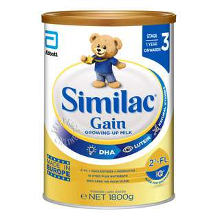 SIMILAC GAIN GROWING-UP MILK STAGE 3 WITH 2-FL 1800G