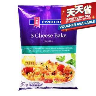 Emborg Shredded Cheese - 3 Cheese Bake