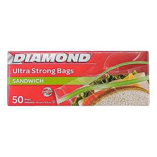 Diamond Zipper Bags - Sandwich