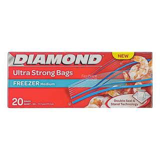 Diamond Freezer Zipper Bags - Medium