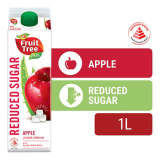 F&N Fruit Tree Fresh Less Sugar & Calories Juice - Apple&AloeVera