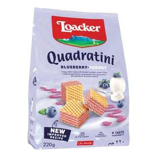 Loacker Quadratini Crispy Wafers - Blueberry Yoghurt