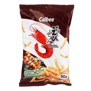 Calbee Prawn Crackers - Grilled Squid Seaweed
