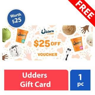 FREE Udders Ice Cream Gift Card (worth $25)