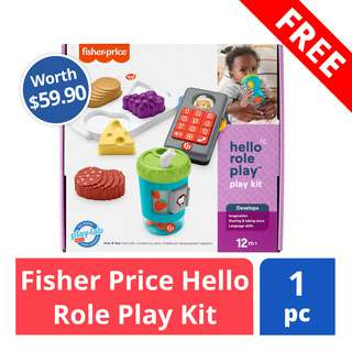 FREE Fisher Price Hello Role Play Kit (worth $59.90)