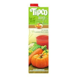 Tipco 100% Veggie Juice - 32 Veggie & Mixed Fruit