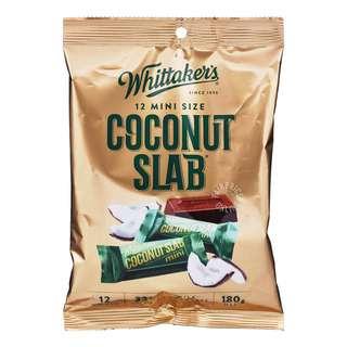 Whittaker's Mini Milk Chocolate Bar - Coconut Slab