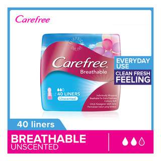 Carefree Breathable Pantiliners - Unscented