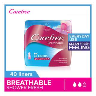 Carefree Breathable Pantiliners - Shower Fresh