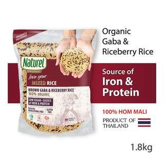 Naturel Organic Rice - Mixed Brown Gaba & Riceberry
