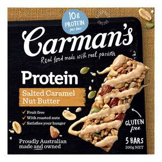 Carman's Gourmet Protein Bars- Salted Caramel Nut Butter