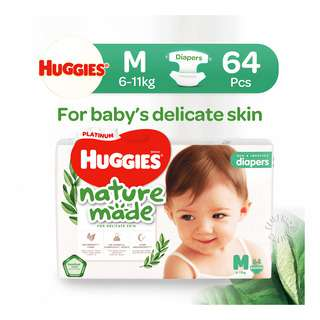Huggies Baby Platinum Naturemade Diapers - M (6-11kg)