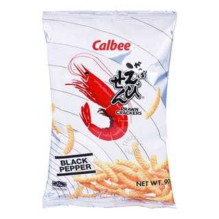 Calbee Prawn Crackers - Black Pepper