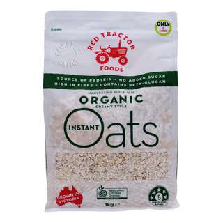 Red Tractor Foods Instant Oats - Organic Creamy Style