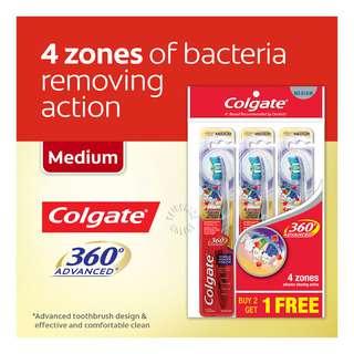 Colgate 360 Advanced Toothbrush - Medium