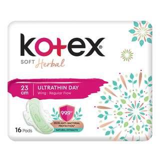 Kotex Soft Herbal Ultrathin Day Wing Pads - Regular(23cm)