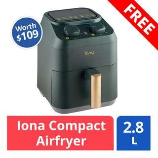 FREE Iona Airfryer 2.8L (worth $109)