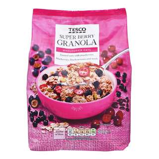 Tesco Wholegrain Granola Oats - Super Berry