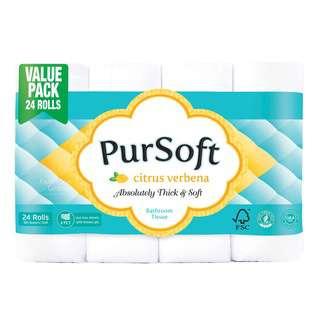 PurSoft Bathroom Tissue Roll - Citrus Verbena (4ply)