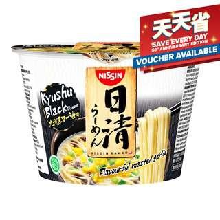 Nissin Instant Bowl Noodle - Kyushu Black