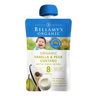 Bellamy's Organic Baby Food - Vanilla & PearCustardwithChiaSeeds
