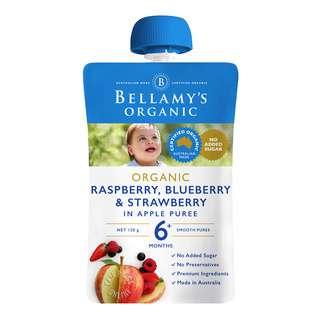 Bellamy's Organic Baby Food - Raspberry, Blueberry & Strawberry