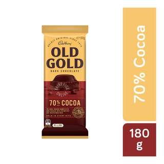 Cadbury Old Gold Dark Chocolate Bar - 70% Cocoa