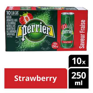 Perrier Sparkling Natural Mineral Can Water - Strawberry
